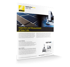 Inspection and Measurement of Solar Cells