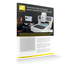 Automated video measuring speeds inspection by a factor of 60